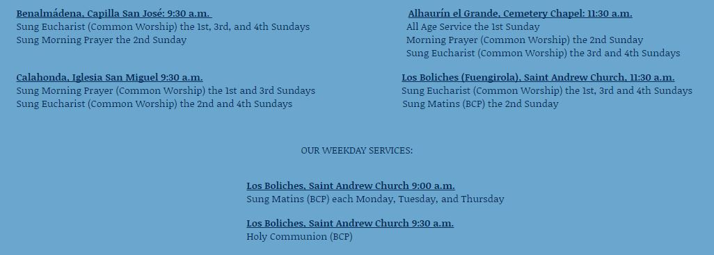 church services 2016